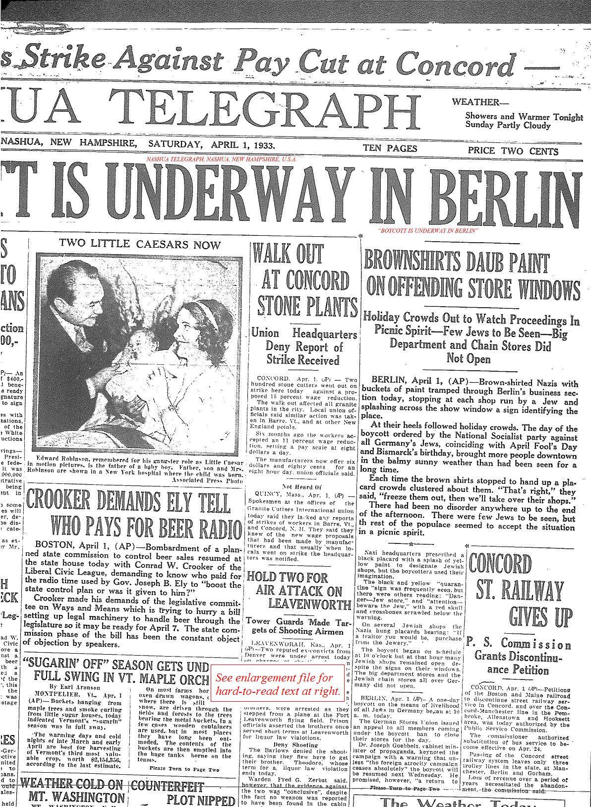 Nazis Boycott Is Underway In Berlin